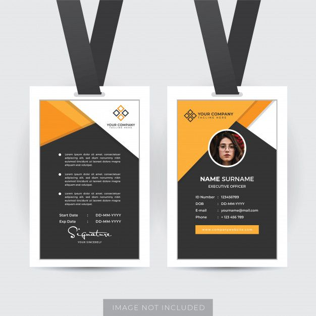 Professional Employee Id Card Template Employee Id Card Id Card Template Professional Business Cards Templates