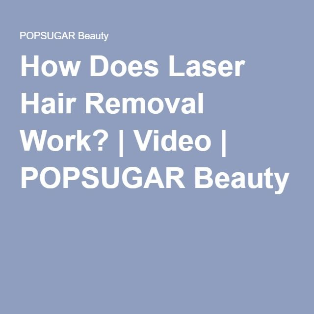 How Does Laser Hair Removal Work? | Video | POPSUGAR Beauty. For more information about Laser Hair Removal visit us at http://nofuzz.la/1Y4j0ts