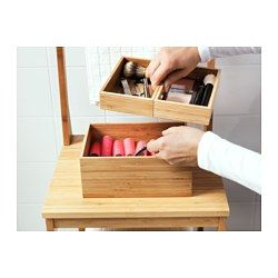 IKEA - DRAGAN, Box, set of 3, , Bamboo is a durable, natural material.Perfect for your jewelry and hair clips.