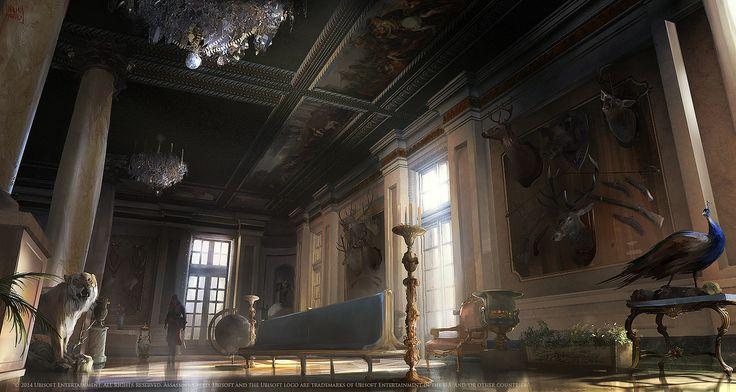 ArtStation - Assassins creed Unity : Luxembourg palace. Thropy room, Nacho Yagüe