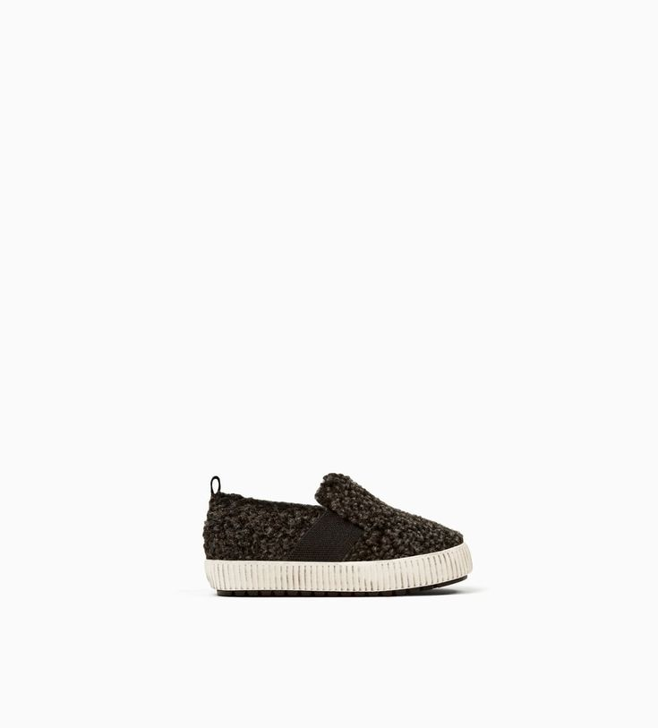 FAUX SHEARLING PLIMSOLLS-SHOES-BABY BOY | 3 months - 4 years-KIDS-SALE | ZARA United States
