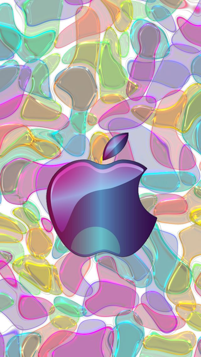 Download Purple Glass 640 x 1136 Wallpapers - 4599113 - Glass Apple Logo   mobile9