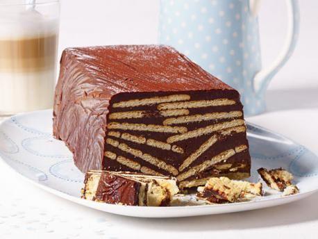 Mini csokoládé torta sütés nélkül háztartási kekszből
