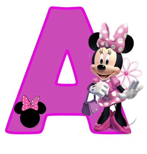 Free Alphabet in Purple Minnie.  Purple Minnie alphabet. Free printable letters. Right click and save as each letter you want