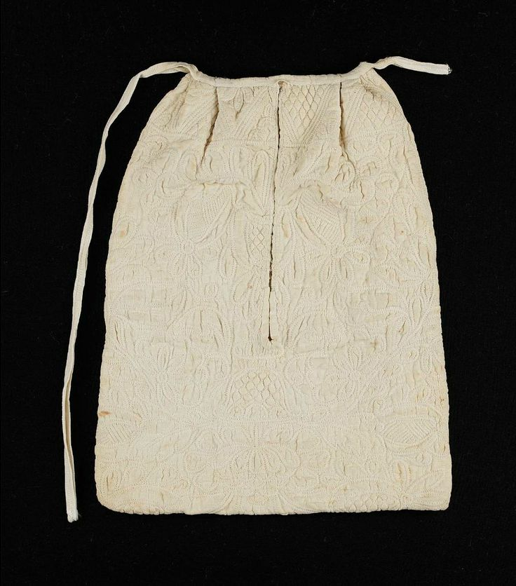 18th century, France or America - Pocket - Quilted cotton and linen