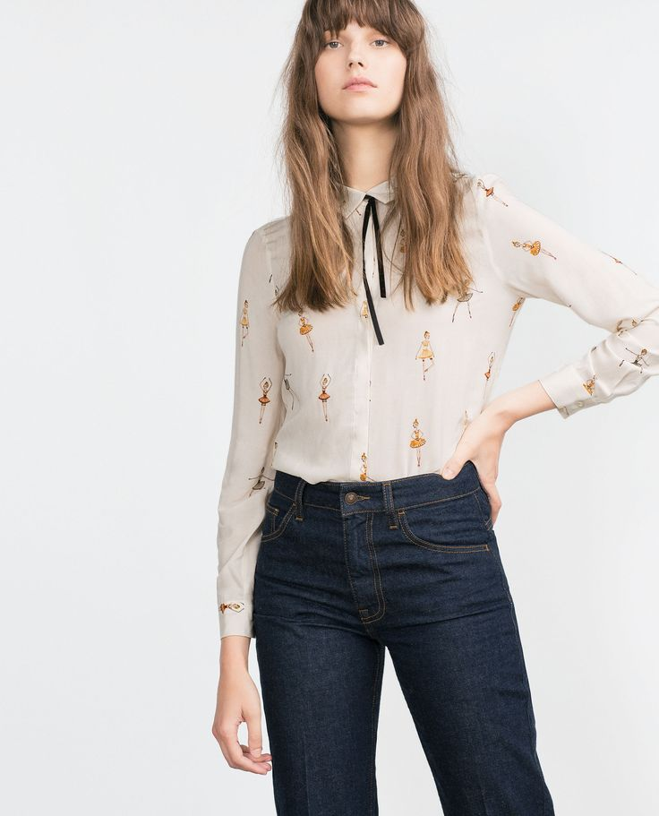 PRINTED BLOUSE - View all - Tops - WOMAN | ZARA United States