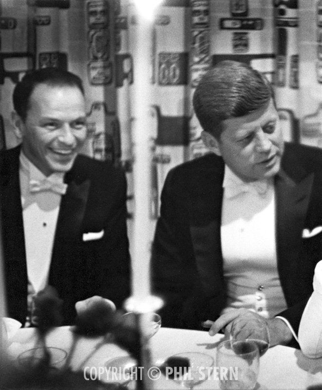 Frank Sinatra and John F. Kennedy by Phil Stern