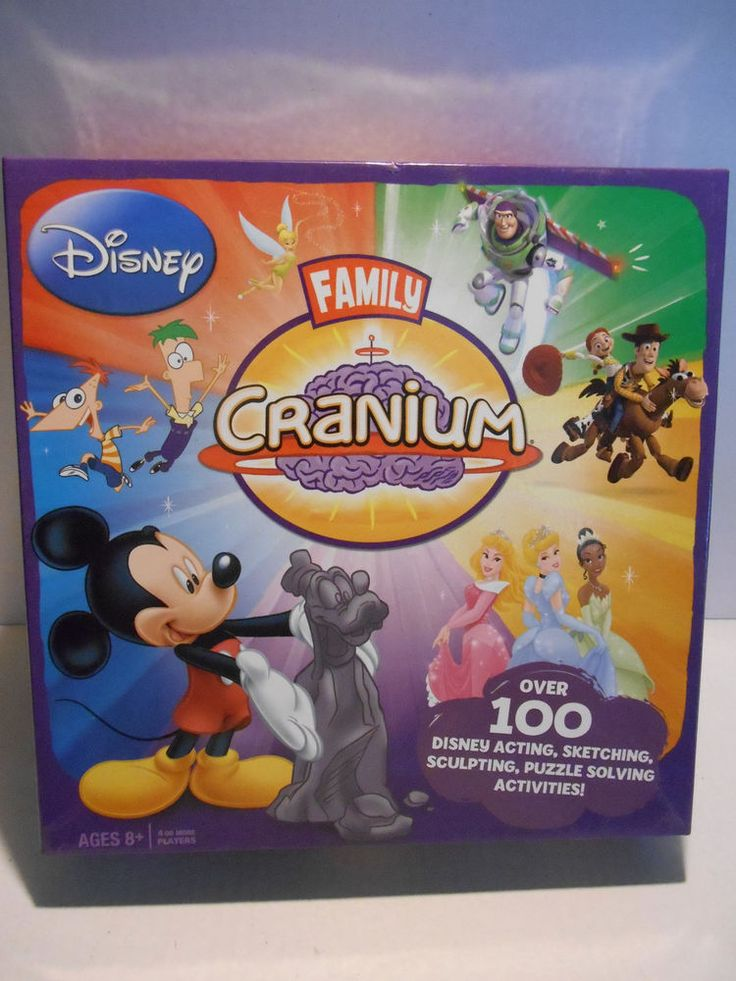 Disney Family Cranium Board Game ~ Family Fun Acting Sculpting Puzzles COMPLETE! #USAopoly