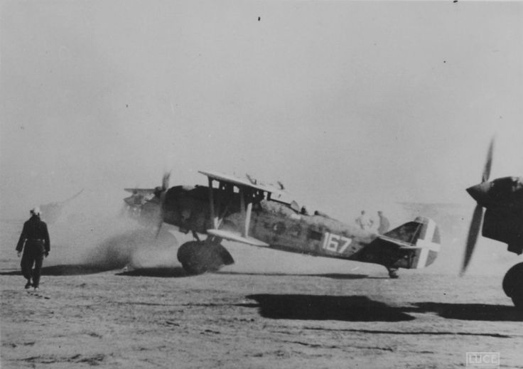 Stormtroopers Fiat CR.32 167th Squadron of the Italian Air Force (167 Squadriglia) in North Africa.