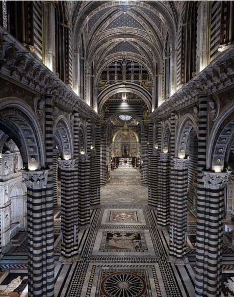 Siena Duomo interior. Photo from apertoperrestauro.siena.it. #Architecture @dwellstudio