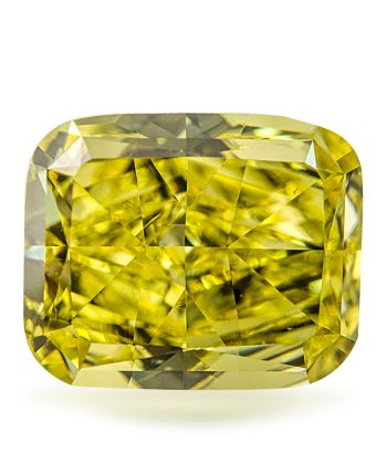 Guildhall Diamonds Inc. specializes in investment grade loose color diamonds. This 1.63 Carat Vivid Yellow Cushion Cut, Internally Flawless was part of the collection until recently. It is not only investors who are wishing to own a rare high quality diamond, but they are becoming increasingly popular for engagement. Many Hollywood celebrities are displaying their color engagement rings.
