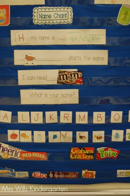 Beginning of School Environmental Print / Poem / Pocket Chart Activity, via Mrs. Wills Kindergarten.