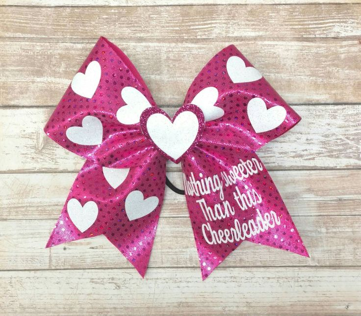 Valentines Day Cheer Bow, hot pink cheer bow,  Big Cheer Bow, custom cheer bow,  glitter cheer bow by ThatSparkleShop on Etsy https://www.etsy.com/listing/500203799/valentines-day-cheer-bow-hot-pink-cheer