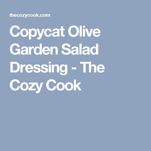 Copycat Olive Garden Salad Dressing - The Cozy Cook