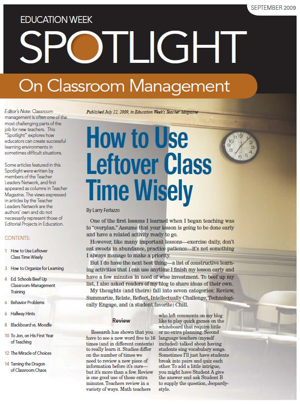 Classroom management is often one of the most challenging parts of the job for new teachers. This Spotlight explores how educators can create successful learning environments in sometimes difficult situations. #education #teaching #management