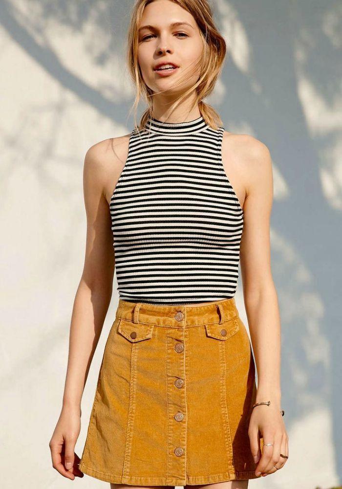 inspiration: front button skirt