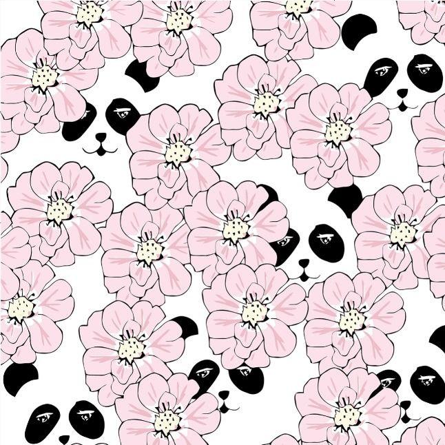 Peekaboo panda rosa EKO GOTS