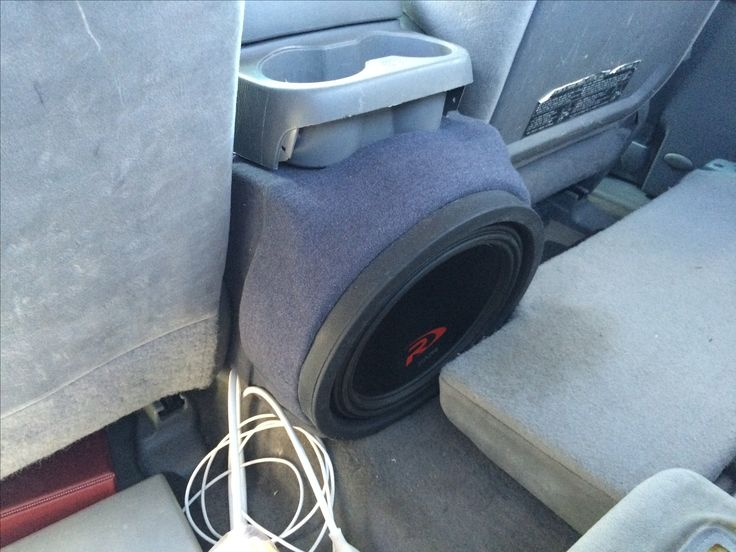 Subwoofer Box I Made To Fit The Center Console Of A 2nd