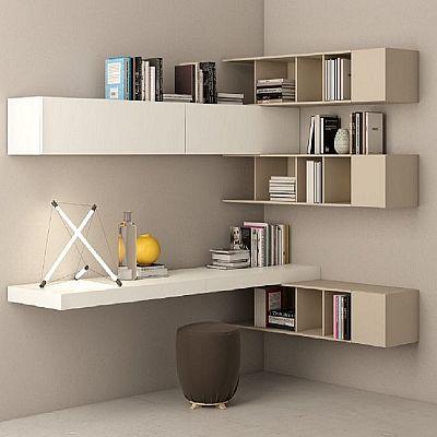 Beautiful, light wooden 'Tortora' bookshelves wall unit. Elegant, fantastic piece. My Italian Living.