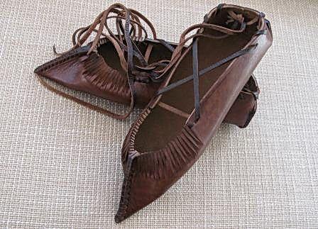 Opinici - traditional Romanian shoe.