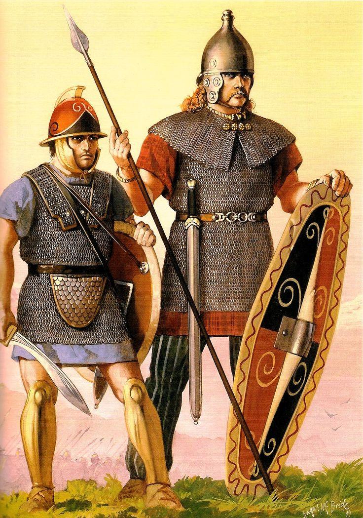 Carthaginian and Celtic warriors, 218 BC