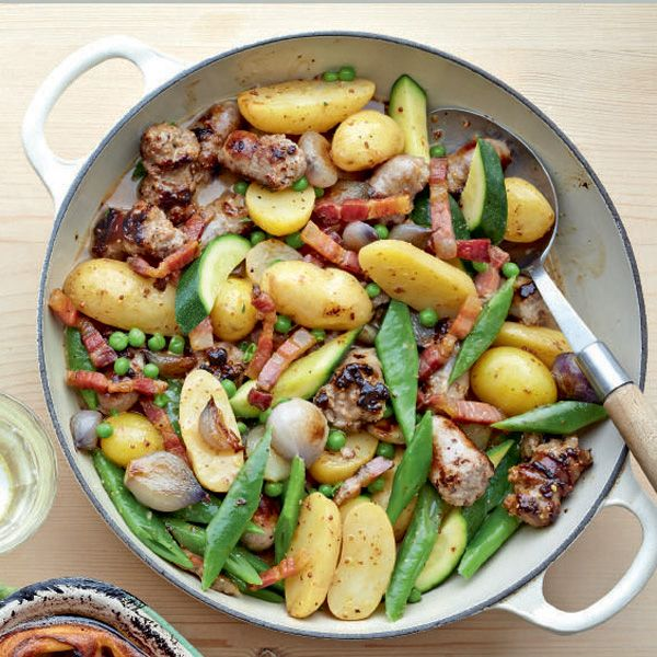 A quick sausage casserole recipe, perfect for a summery and light meal.