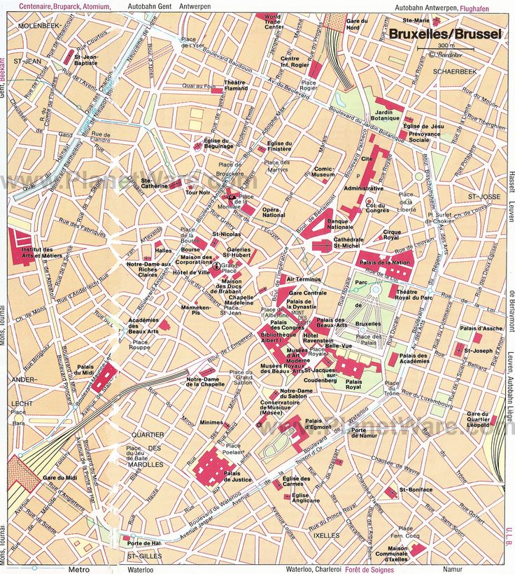 Map of Brussels Tourist Attractions | PlanetWare