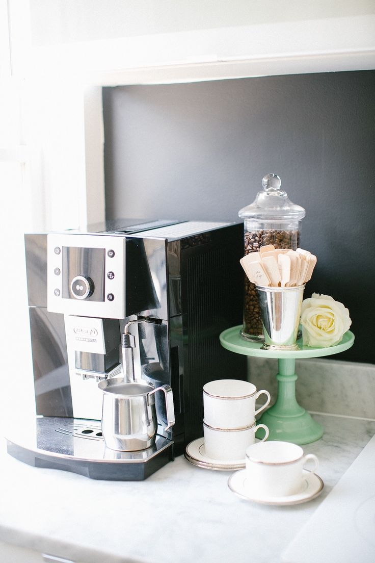 Coffee station | Photography: Kimberly Chau - kimberlychau.com Invitations: Winifred Paper Studio Tour - winifredpaper.com/ Read More: http://www.stylemepretty.com/living/2014/09/30/behind-the-scenes-with-winifred-paper-studio-tour/