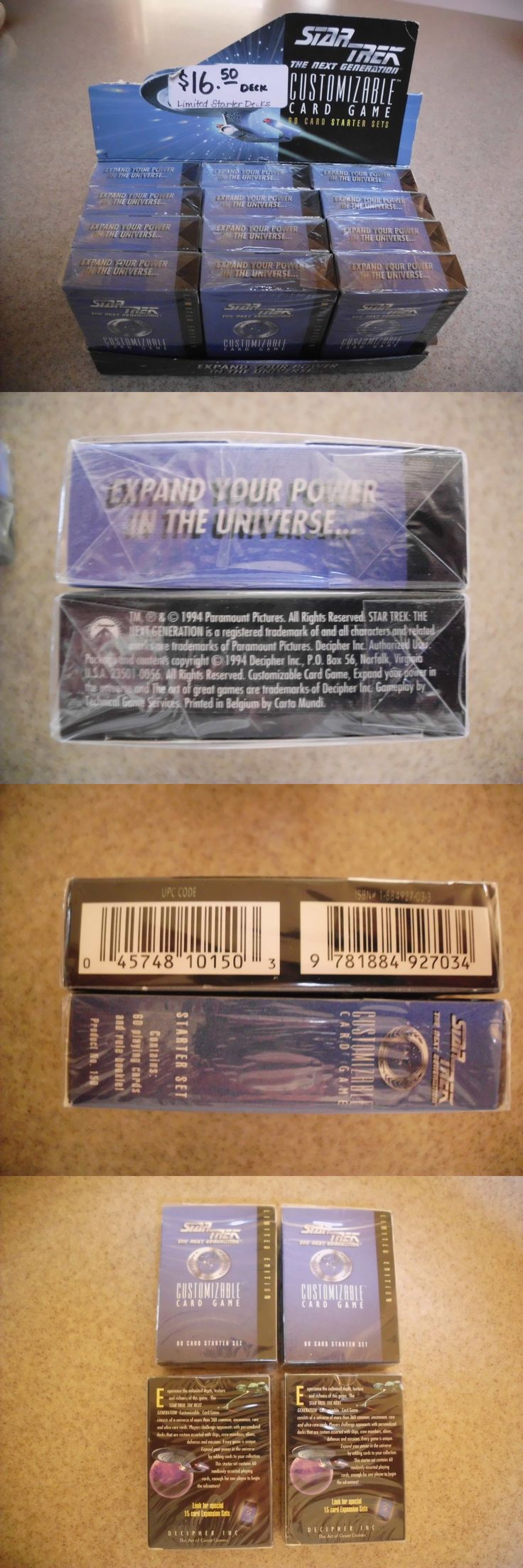 CCG Sealed Booster Packs 183456: Star Trek The Next Generation Customizable Card Game Expansion Limited Edition -> BUY IT NOW ONLY: $44.99 on eBay!