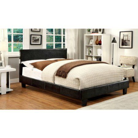 furniture of america camilla padded california king platform bed expresso - Cal King Platform Bed Frame