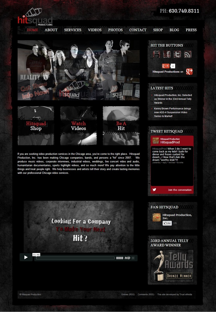 Hitsquad Production Website