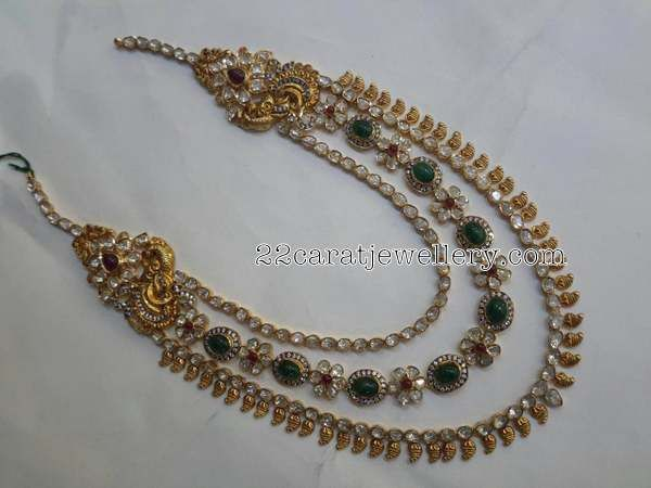 3 Rows Kundan Set by Mahalaxmi Jewellers - Jewellery Designs