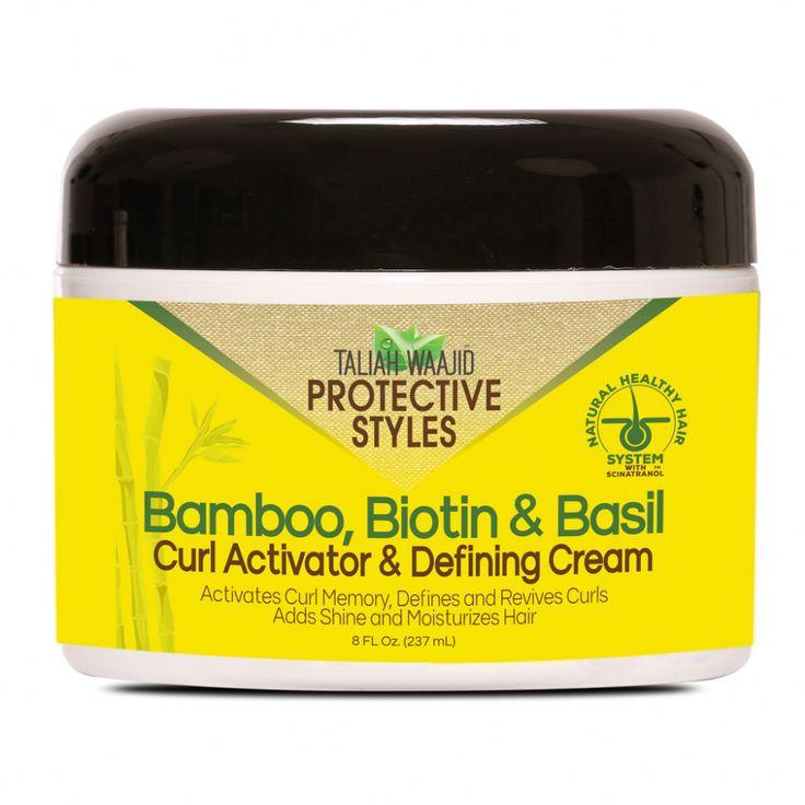 Bamboo Biotin Basil Curl Activator Defining Cream 8oz V116 Curl Activator Biotin Curly Hair Styles Naturally