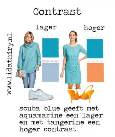 Zo maak je meer contrast | www.lidathiry.nl | Klik op de foto voor het blog #contrast #scubablue #tangerine #aquamarine