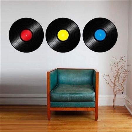 Adesivo de parede discos de vinil 1