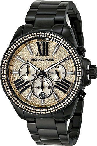 Michael Kors Wren Chronograph Crystal Pave Dial Black Ion-plated Ladies Watch MK5961 Michael Kors http://www.amazon.com/dp/B00KBNDO9A/ref=cm_sw_r_pi_dp_NdOBub1Y9TY92