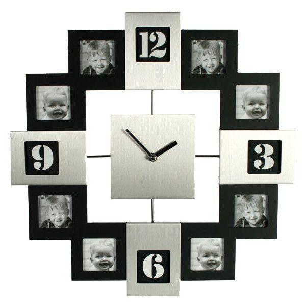 cadre horloge photo ❤ liked on Polyvore