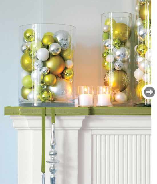 The 20 best images about Mantel Shelf Decorating 101 on  ~ 164652_Christmas Decorating Ideas With Glass Vases