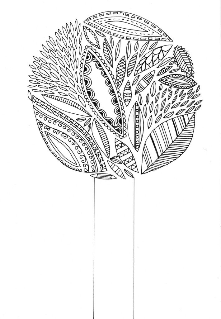 Tree of life - FREE printable. Download this picture for FREE and color in yourself!