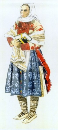 Ábelová (Slovakia). - ULUV published illustrated results of ethnographic research on Slovak folk costume and published in alphabetical order starting from this page.