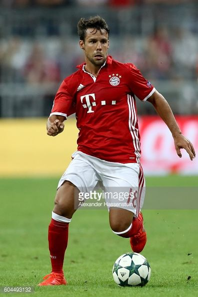 Juan Bernart of Muenchen runs with the ball during the UEFA Champions League Group D match between FC Bayern Muenchen and FC Rostov at Allianz Arena...