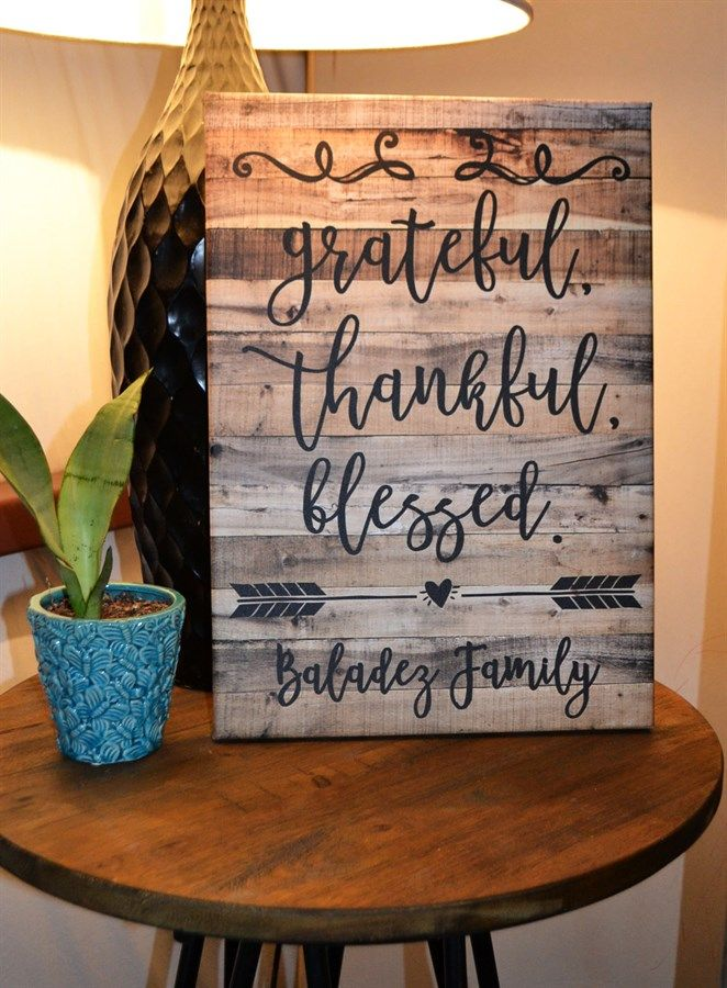 14 x 20 Personalized Rustic Canvas Art