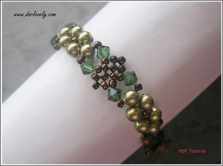 Green Leaves Netted Bracelet (BB173) | Craftsy