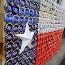 Bottle Cap Texas Flag