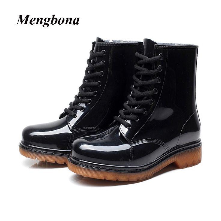 23.99$  Watch here - 2017 New Arrival Fashion Black women rainboots waterproof ankle boots PVC rain shoes for women botas de agua wellies YX020  #SHOPPING