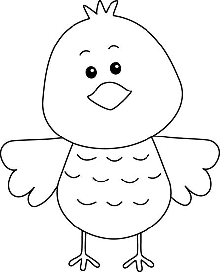 black and white clip art free birds | Cute Black and White ...