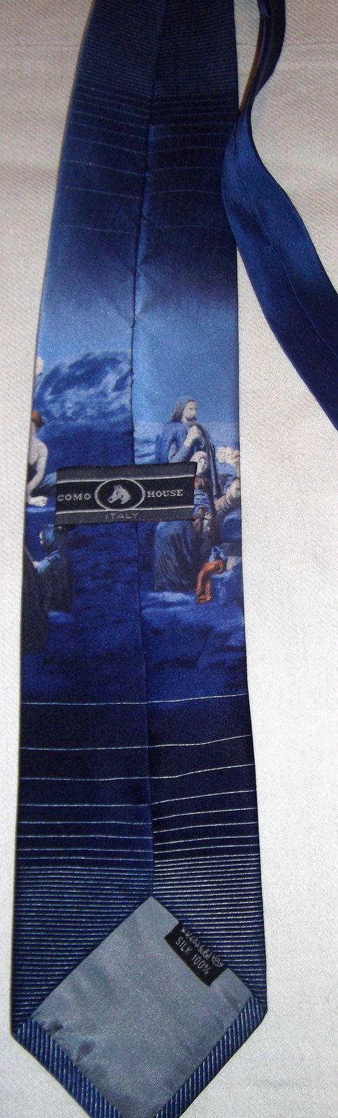 Jesus Christ twill silk italian vintage tie by CHEZELVIRE on Etsy, $10.00
