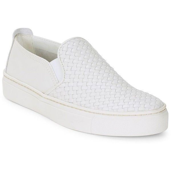 The Flexx Women's Sneak Name Leather Slip-On Sneakers ($135) ❤ liked on Polyvore featuring shoes, sneakers, gold, white platform shoes, platform shoes, leather shoes, white leather shoes and platform sneakers