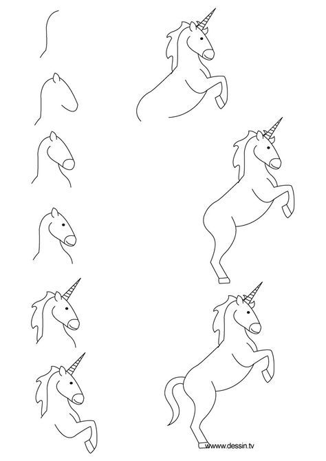 the 25 best dessin licorne ideas on pinterest cute unicorn