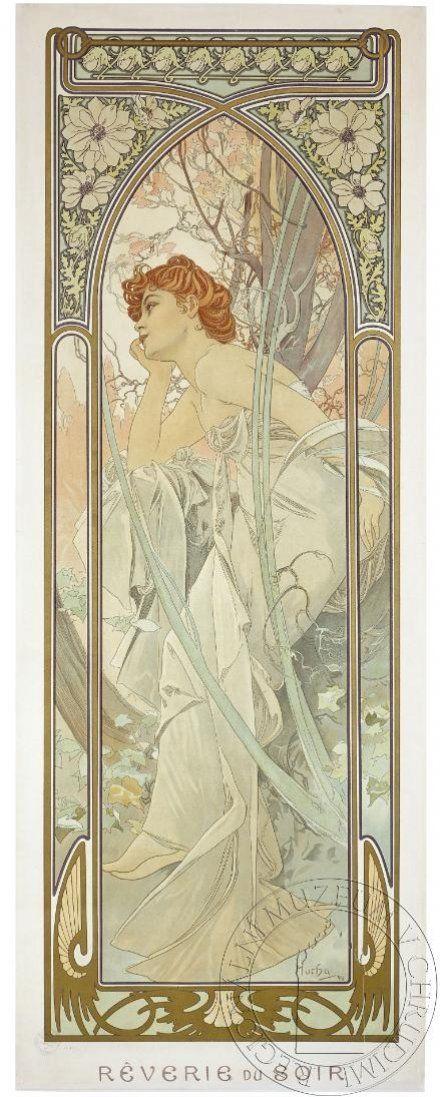 Reverie du soir by Alfons Mucha, 1899. eSbírky, CC BY